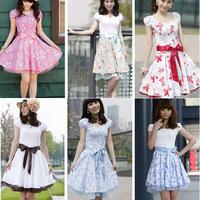 Ayilian 2013 sweet summer short-sleeve dress slim gentlewomen princess cotton dress