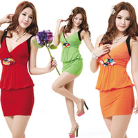 2013 ultra-short princess one-piece dress sexy fashion queen of ds performance wear 108