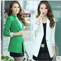 Small suit jacket female 2013 autumn ol medium-long slim women's short blazer jacket