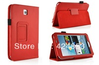 Executive Leather Wallet Smart Flip Case Cover for The Samsung Galaxy Tab 3 7.0