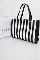 Teen kiss2013 stripe bars fashion shoulder bag elegant high quality all-match women's handbag simple elegant