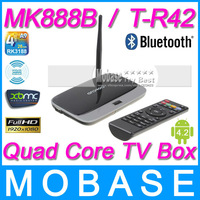 MK888B / T-R42 Android 4.2 TV Box RK3188 Quad Core Mini PC RJ-45 USB Bluetooth WiFi XBMC Smart TV Media Player Remote Controller