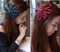 Accessories cloth cutout flower big broadside hair bands female hair accessory hair accessory headband vintage