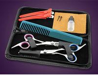 Professional Stainless Hairdressing Scissors Set Kit Barber Hair Thinning Nine PCS Set