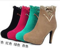 Free shipping/waterproof Taiwan female boots, of new fund of 2013 autumn winters is high with lace and ankle boot