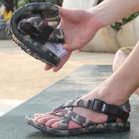 Vietnam shoes Camouflage men's summer male sandals casual sandals Men wading shoes flip outdoor shoes