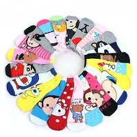 Fashion Cute Girls Cartoon Short Ankle Socks Anklet Colorful Fun Lovely Autumn/Winter Cotton Sockings 10 Pairs Free Shipping