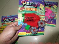 Color small gun fireworks divisa gun party supplies birthday toy spray gun popper