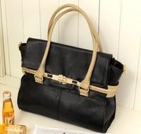 2014 Hot  New 1pcs/Lot JK Fashion PU Leather Handbags Tote Messenger Shoulder Bag BG04