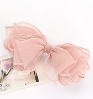 Accessories accessories fashion sweet multi-layer bow silk yarn hairpin clip