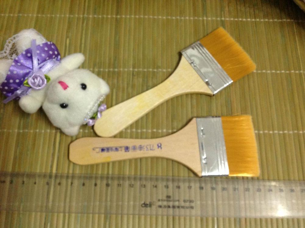 Free Shipping #8 Size 5.5cm*16cm Nylon Hair Paint Brush Wood Handle Paint Brush/Cleaning Brush/Computer Dusting Brush 10pcs/lot(China (Mainland))