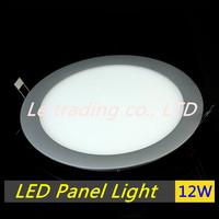 Free shipping 12W High Quality + Good Design AC85~265V white/cold/warm white  LED Panel Light LED Panel Lamp LED Panel Lighting