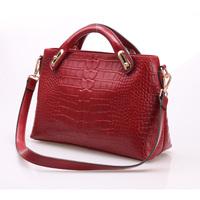Free shipping Luxury genuine leather handbag Girls / women's crocodile pattern shoulder bag Tote bag fashion all-match