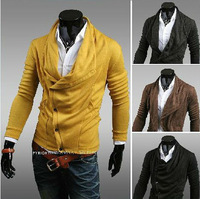 Free Shipping 2013 autumn and winter fashion men's personality cardigan Hoodie