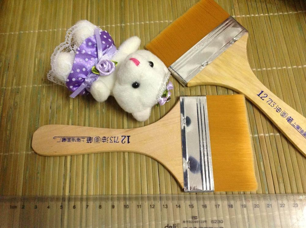 Free Shipping #12 Size 8cm*18cm Nylon Hair Paint Brush Wood Handle Paint Brush/Cleaning Brush/Computer Dusting Brush 10pcs/lot(China (Mainland))