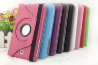 360 Rotary Leather Case For Samsung Galaxy Tab 3 p3200 SM T210 T211 ,  Stand Rotating Cover for GT P3200