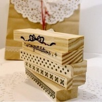 Free shipping Korea stationery funascon diy diary stamp series flower laciness long design stamp