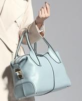 Free shipping Luxury genuine leather handbag Girls/ women's tote bag Shoulder bag Messenger bag fashion casual all-match