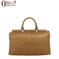 Genuine leather women's handbag check one shoulder handbag messenger bag cowhide 2013 big bag