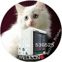 *Free EMS Shipment* CMS6000 Veterinary Vet Multi 6 Parameter Patient Monitor ECG NIBP SPO2 Temp RESP +Built-in Thermal Printer