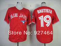 2013 Baseball Jerseys Toronto Blue Jays Jerseys #19 Jose Bautista red men baseball jersey stitched Embroidery logos size M-XXXL