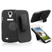Black Belt Clip Holster Stand Hard Case Cover For Samsung Galaxy S4 SIV i9500