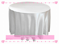 10 Satin Cheap White Wedding Table Cloths Round Wedding Tablecloth 108'' Round Shape Free Shipping