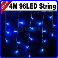 4M 110V/220V 96 LED Blue Christmas Garden Fairy String XMAS New Year Garlands Icicled Outdoor Lights CN C-15
