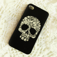Free shipping the new skull following from euramerican style coloured drawing or pattern for iphone 4/4 s for iphone 5c case