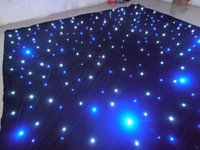 Led cloth wedding backdrop led stage star cloth curtain