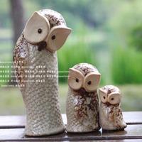 For dec  oration home decoration ceramic owl entranceway mid-autumn festival gift crafts