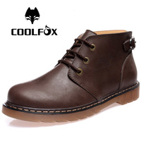 2014 genuine leather martin boots tooling cotton-padded riding boots