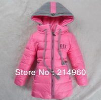 Hot Sale New Children Down/Parkas Mitch Medium-Long Children's Winter Clothing New Arrival Girls Winter Coat Jacket
