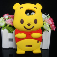 Free Shipping!Cute cartoon Soft Silicone Case Cover Protector For HTC One X S720e S720t#Yellow