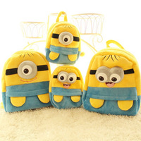 Three-dimensional milk small doll plush backpack student school bag