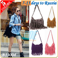 Hot 2013 Fashion Women's TASSEL Cross Body Bag Shoulder Bags Free Shipping 7-15 Days to Russia B13004