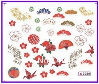 50 PCS / LOT Nail Art Water Transfers Stickers Nail Decals Stickers Water Decal Chinese Culture Painting Spring Festival