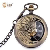 Leondi vintage mechanical pocket watch fashion male women's pocket watch black