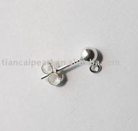 925 sterling silver ball stud earring loop post Jewelry Accessories Findings Fittings