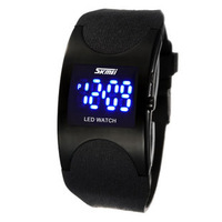 Fashion led waterproof sports electronic watch jelly fashion male watch