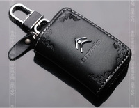 carve patterns Leather car key case For Citroen C1 C2 C3 C4 C5 C6 C8 DS3 Berlingo DS4
