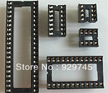 45pcs Assorted DIP IC Sockets 8,14,16,18,20,24,28,32,40