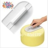 New 1 X Double sugar cake mold/imitation PME screeding tool surface flattening of DIY baking cake cream