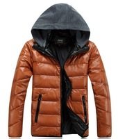 new 2013 mens winter jackets sports warm jacket leather jacket men male coat men's down jackets winter coat big size