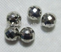 1000pieces 3mm sterling silver mirror ball beads