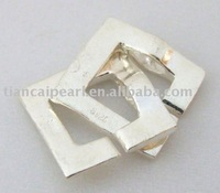 Sterling Silver Jewelry Accessories Findings Fittings-Squareness CO S925 Silver Clasp 14mm
