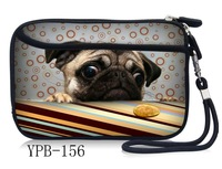 "Free Shipping Cute Pug Carry Sleeve Case Bag Cover Pouch For 2.5"" Portable HDD Hard Drive Disk"