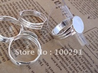 16mm gule pad 200piece silver plated color ring base ring blanks