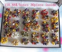 PPQ//Fashion freshwater pearl jewelry ring set 36piece/box