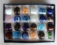 Mixed Murano Glass Ring